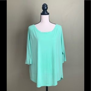 Fabletics XXL 3/4 Length Sleeve Active Tee